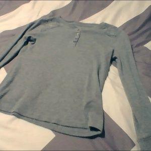 a grey long sleeve